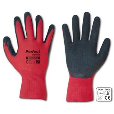 Rukavice PERFECT GRIP RED latex 9'' 12ks/kart.